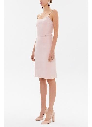 Societa Askılı Mini  Elbise 93129 Pembe